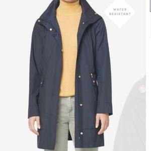 Cole Haan Long Navy Rain Jacket